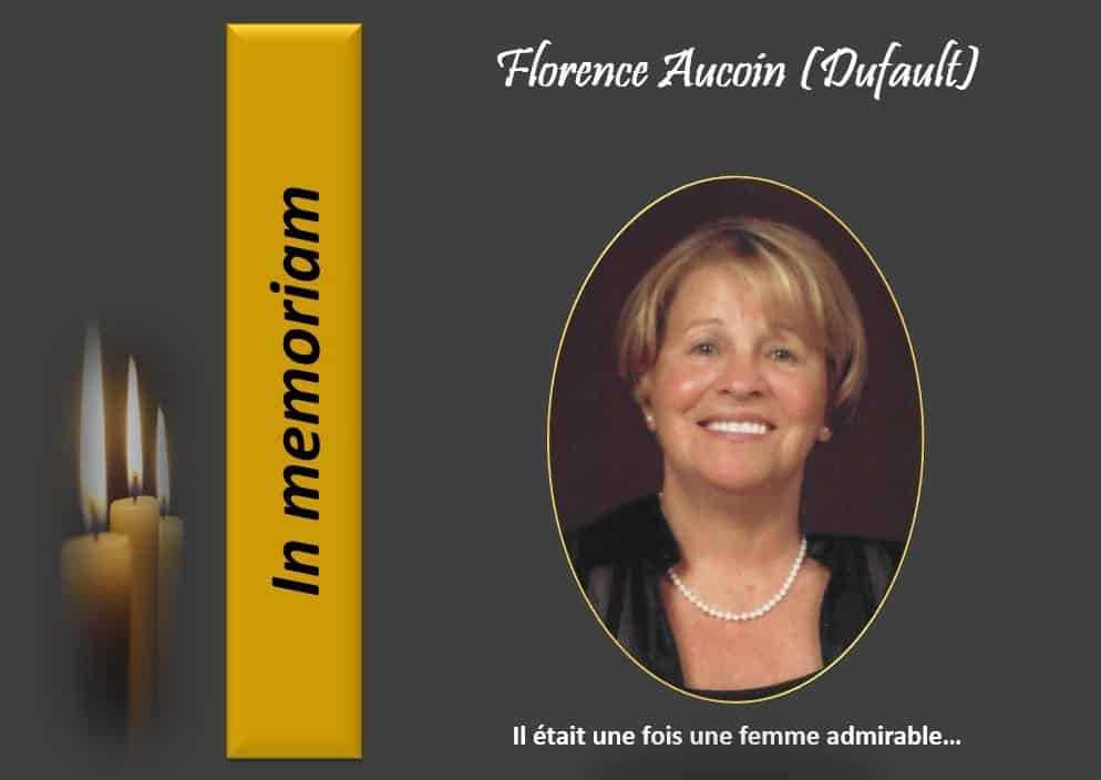Mme Florence Aucoin (Dufault)